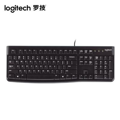羅技K120有線鍵盤電腦臺式筆記本家用辦公游戲鍵盤有線防潑濺鍵盤