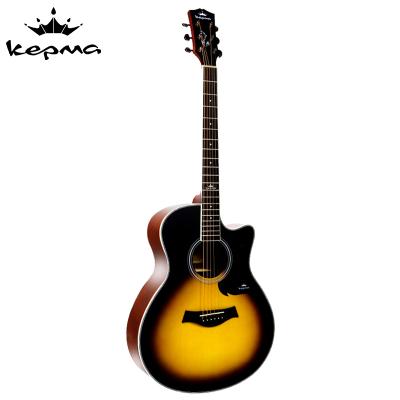 卡马自营(KEPMA)A1C3TSM民谣吉他初学者木吉他入门吉它jita日落色40英寸