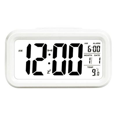 北極星(POLARIS)自動感光液晶LED聰明鐘個性懶人貪睡小鬧鐘智能夜光靜音創意時尚臥室床頭鐘充電電子鐘兒童座鐘