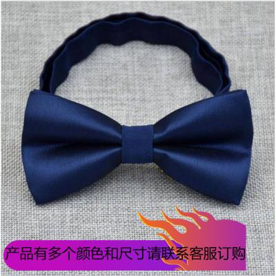 2019男士韓版經典純色領結 單色光面雙層平頭領結 時尚素色亮面領結