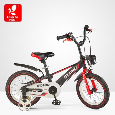 薈智Huizhi12寸/14寸/16寸小孩腳踏寶寶騎行鋼鐵俠款兒童自行車磨砂黑HB1219Q
