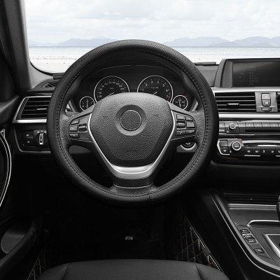 小米生態 邁未 汽車方向盤套 四季真皮透氣把套車型通用 O型黑色