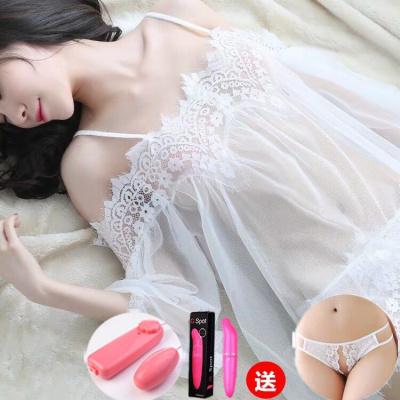 性感睡裙情趣內衣內褲女極度誘惑透視大碼開檔免脫蕾絲睡衣套裝秋威珺