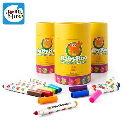 Joan Miro美樂童年 兒童水彩筆套裝幼兒園無毒可水洗畫筆寶寶畫畫涂鴉筆彩色小學生白板筆繪畫24色水彩筆 創意玩具