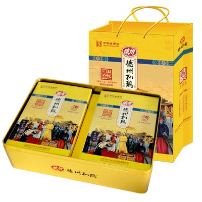 【正宗德州扒鸡】德州牌高档中式年货礼品礼盒熟食 御品1692两只礼盒装