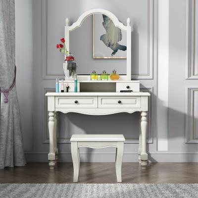 和諧愛巢 美式實木梳妝桌梳妝臺臥室簡約化妝臺輕奢現代網紅小戶型化妝柜簡約主臥