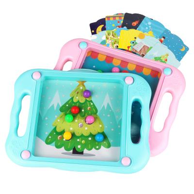 樂童童玩具 兒童平衡滾珠游戲 10張卡片+故事 寶寶專注力訓練 粉紅 2-6歲 ABS 包裝280*230*50mm