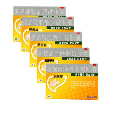 5盒】易善復 多烯磷脂酰膽堿膠囊36粒*5盒 中毒性肝損傷脂肪肝肝炎患者的食欲不振