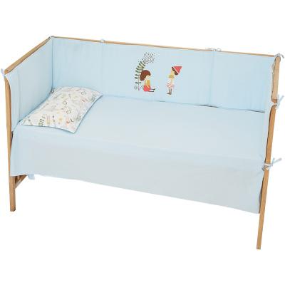 棉花堂嬰兒床上用品套件全棉嬰兒床圍 寶寶防撞床圍卡通床靠可愛3367