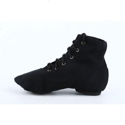 高帮成人儿童帆布爵士靴软底舞蹈鞋新款练功鞋男女现代舞鞋芭蕾舞