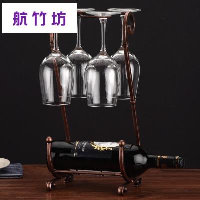 歐式創意紅酒架擺件紅酒杯架倒掛家用高腳杯架展示架葡萄酒架個性