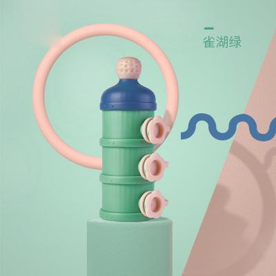 babycare奶粉盒 嬰兒便攜外出裝奶粉罐 大容量儲存盒寶寶奶粉 雀湖綠 1680