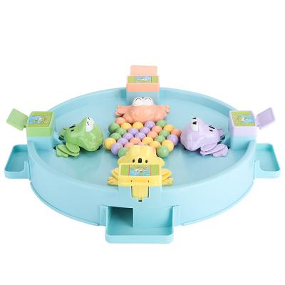貝恩施 兒童益智玩具 男孩 女孩玩具 戲珠桌面游戲親子互動青蛙吃豆【4人款】