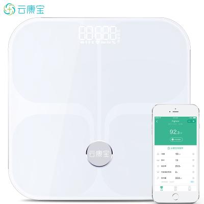 云康寶智能體脂秤 華為智慧生活生態產品WiFi藍牙脂肪稱 電子秤人體 家用精準體重秤 白色