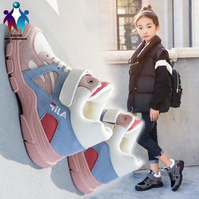 【厂家直营】女童运动鞋冬季加绒儿童棉鞋秋冬新款潮流百搭网红休闲高帮童鞋女