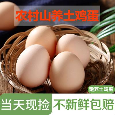 新鮮土雞蛋1枚 正宗農家散養笨雞蛋柴雞蛋草雞蛋 非鵪鶉蛋鴨蛋鵝蛋變蛋 桃小淘
