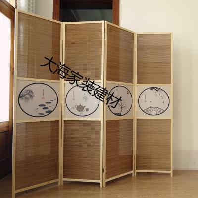 中式屏風隔斷折屏書房臥室屏風隔斷日式新中式隔斷簡易折疊屏風 單扇170*50(三扇一組)