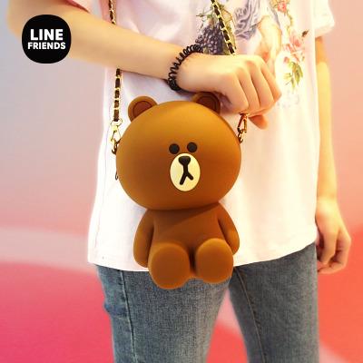 LINE FRIENDS正版布朗熊可妮兔硅膠包(買包送爆米花,每月三次,券碼發送至蘇寧影城公眾號會員賬戶)