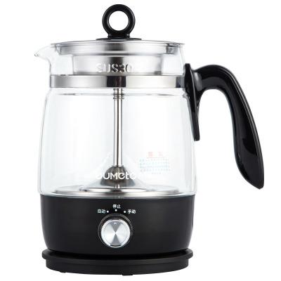 欧美特(OUMETE)M-DS1006煮茶器蒸汽黑茶普洱电热水壶蒸茶壶 全自动保温黑色新款501-600ml高硼硅玻璃