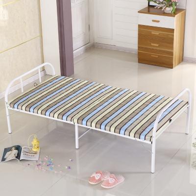 深海梦蝶 折叠床 单人床 午睡午休床 钢木床 简易铁艺床 加固木板办公室出租房临时木板床加厚现代简约
