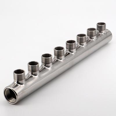 304不銹鋼一寸內絲主管六分外絲分水器三通四通水油氣管道分流器