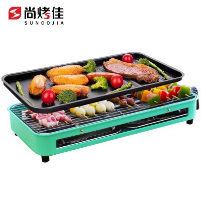 尚烤佳易捷電燒烤爐無煙烤爐小型烤肉爐家用電燒烤架迷你室內烤肉爐燒烤串機DKS-301