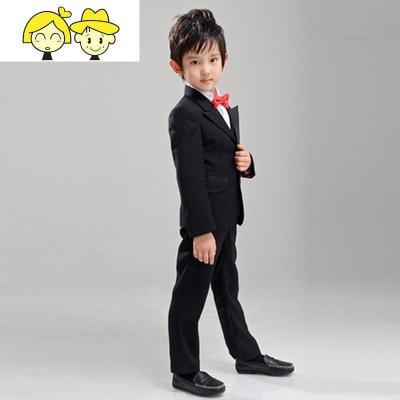 儿童小西装套装男童中大童小学生演出服韩版花童礼服男孩表演西服