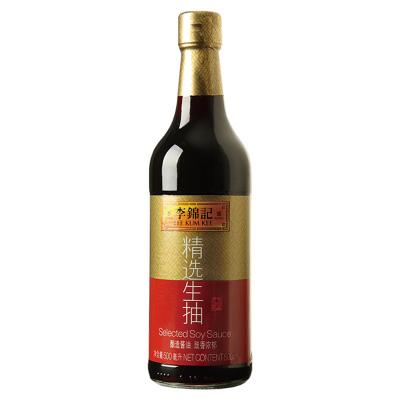 李锦记 精选生抽 500ml 传统发酵,天然生晒的好酱油,鲜香唯美,厨房必备!酱油 调味品