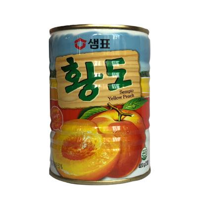 韓國進口膳府黃桃罐頭水果罐頭桃子 400g黃桃罐頭