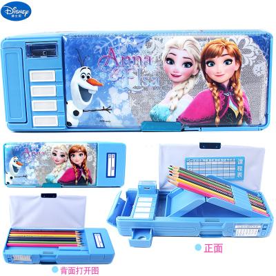 迪士尼苏菲亚文具盒冰雪公主小学生多功能女密码锁铅笔盒儿童笔袋