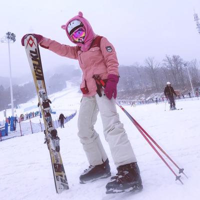 滑雪裤男女款加厚防水透气单双板情侣款保暖雪地裤加厚耐磨大码背带闪电客滑雪服