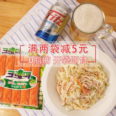 韓國進口 韓星客唻美蟹味棒180g模擬蟹棒0脂肪零脂手撕蟹柳 蟹足棒海味 即食零食 網紅壽司蟹肉火鍋健身減肥