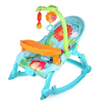 澳贝(AUBY)新生婴儿摇摇椅宝宝哄睡摇椅安抚椅躺椅0-36个月 奇幻森林摇椅463313