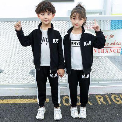 依藍圣雪兒童2019李現同款衣服兒童運動兩件套韓商言kk戰隊服童裝套裝 潮