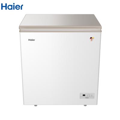 海尔(Haier)BC/BD-146HE 146升家用冰柜 冷藏冷冻转换柜 顶开门小型迷你冰箱 节能单温卧式冷柜