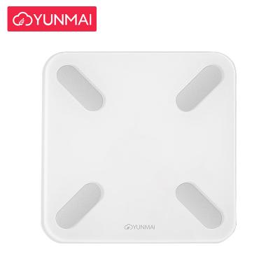 云麦(YUNMAI)好轻mini2S智能家用体脂秤健康秤白色 29项身体数据测量 精准测体脂称体重 钢化玻璃材质 最 重量1.2KG