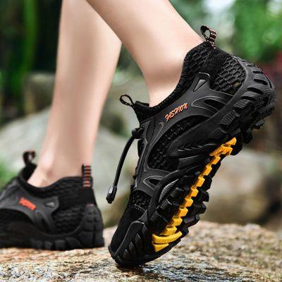 夏季男鞋透气凉鞋速干溯溪鞋男士两栖涉水鞋户外防滑徒步登山网鞋 TCVV