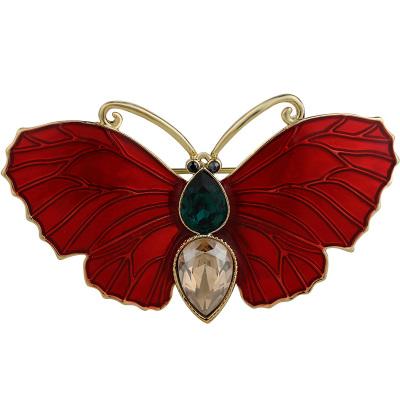 法國Eternelle優雅蝴蝶胸針女氣質 服裝開衫扣大衣領針別針扣胸花