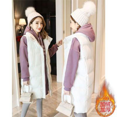 孕妇装秋冬套装孕妇卫衣中长款冬季加绒加厚上衣两三件外套装潮14