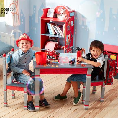 Teamson 紛朵奇兒童桌椅套裝寫字桌幼兒園寶寶玩具桌椅手繪卡通游戲桌