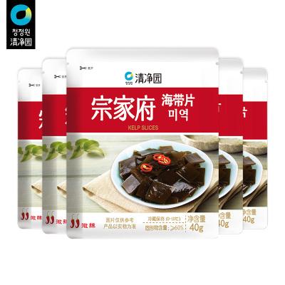 清凈園宗家府韓國泡菜海帶片40g*5 韓式小菜袋裝咸菜下飯菜配菜