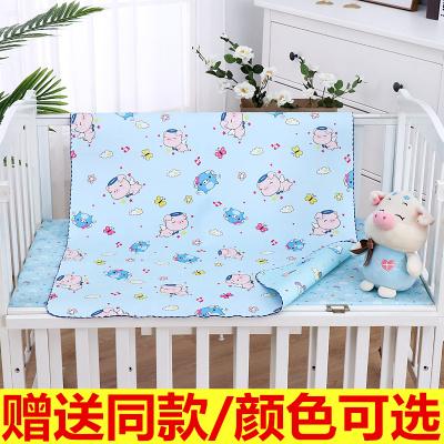 嬰兒水晶絨隔尿墊防水透氣可洗寶寶雙面防漏床墊兒童超大號護理墊 藍色系(送同款) 120x80cm