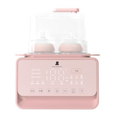 小白熊雙邊暖奶器多功能消毒暖奶調奶器恒溫泡奶器可加熱輔食粉色HL-5020