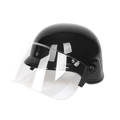 兵器庫 暴頭盔防爆鋼盔M88頭盔德式帶面罩頭盔 保安執勤防護頭盔 黑帶面罩德式盔