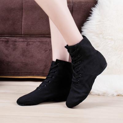 高帮爵士舞靴形体鞋瑜伽鞋男女练功鞋肚皮古典民族舞蹈鞋芭蕾舞鞋