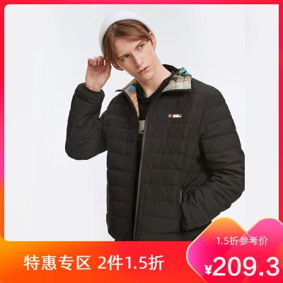 【1.5折價:209.3】商場同款馬克華菲19新款男式短款羽絨服雙面可穿時尚休閑外套