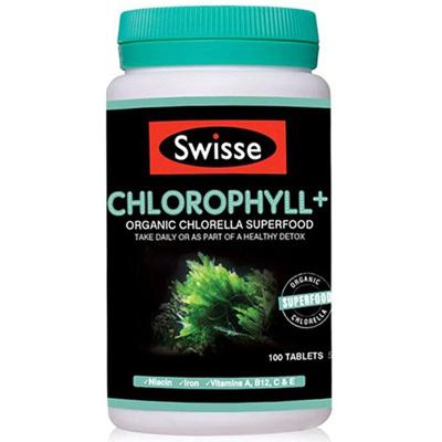 澳洲进口 Swisse 斯维斯 清体排毒叶绿素片剂叶酸 100粒瓶装