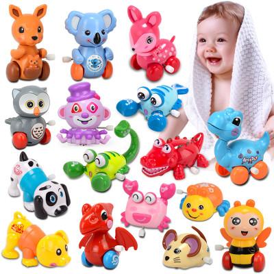 速翔玩具兒童發條玩具小雞章魚上鏈上弦會動的玩具車嬰兒寶寶男孩女孩6-12個月任意三款 款式隨機