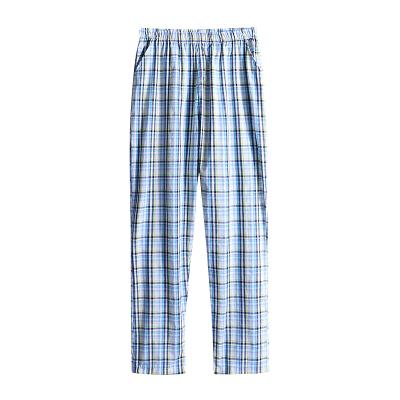 男士睡裤纯棉长裤100%全棉家居裤薄款休闲宽松格子居家裤