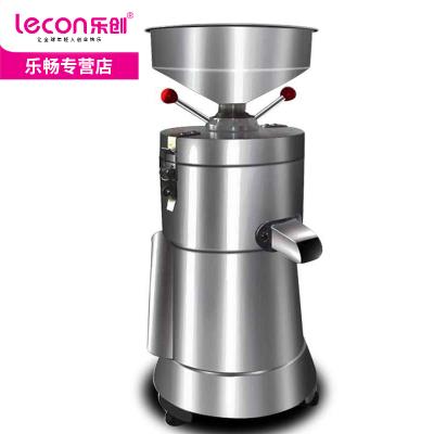 lecon/乐创商用豆浆机 不锈钢磨浆机早餐全自动磨浆机家用渣浆分离现磨豆腐脑机 不带加热功能 大容量豆浆机 100型